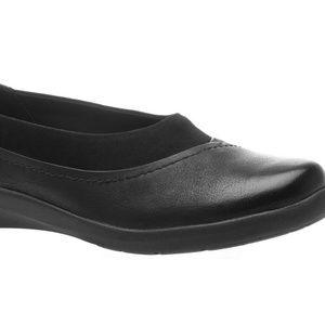 Abeo Womens 8.5M Black Flat Dress Shoes